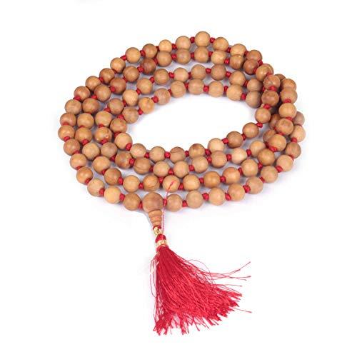 Jingle Jewels Auténtica guirnalda de sándalo | oración de madera de 108 cuentas