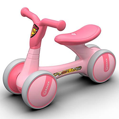 Bicicleta sin Pedales Bici sin Pedales Niño Juguetes Bebes 1 Año Triciclos Bebes Correpasillos Bebes 1 Año, Patito Amarillo,Little-Pink-Duck