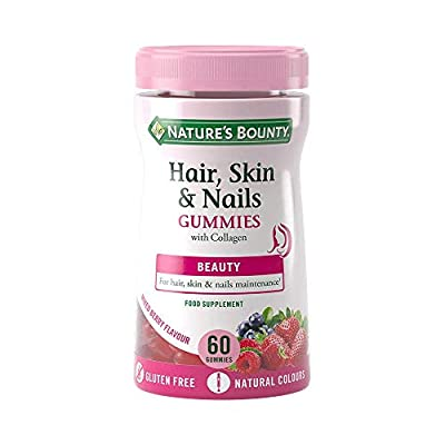 Nature's Bounty Hair, Skin and Nails Gummies with Collagen and Biotin - Zinc - Copper - 60 Count