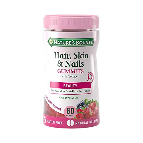 Nature's Bounty Hair, Skin and Nails Gummies with Collagen and Biotin, Pack of 60