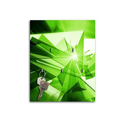 Dalinda Steelprint Porte-clefs Mural avec Design Green sB425 relaxdays Porte-clés