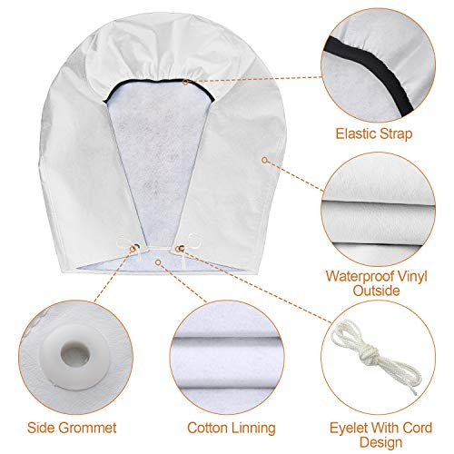 1 Piece, 1 PVC Bag Heavy-Duty Waterproof Wheel Cover Vinyl Cover with All-Weather Protection-36-39D*9 RV Wheel Cover