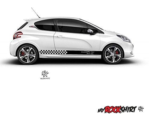 myrockshirt Motorsport Aufkleber Peugeot Sport Seitenstreifen+Logo-Aufkleber,135 208 2008 3008 308 208 GTI 4008 408 GT 5008 508 207