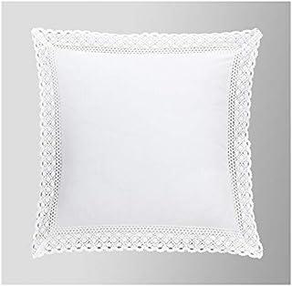 Duffi Home Funda cojín, Blanco, 50 x 50 cm