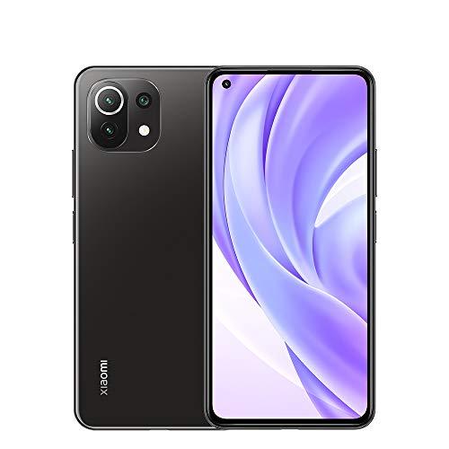 """Xiaomi Mi 11 Lite 6.55"""" FHD + Smartphone 6GB RAM + 128GB ROM, Qualcomm Snapdragon 732G, Fotocamera principale da 64MP, Cellulare con fotocamera frontale da 16MP (Black)"""