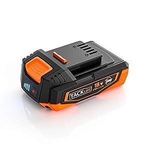 TACKLIFE 18V 2000mAh Li-lon Akku mit Batterie-Ladezustandsanzeige, Ersatzakku für TACKLIFE PMS01D Akku Schleifmaschine, RES003 Akku Säbelsäge - TK2020