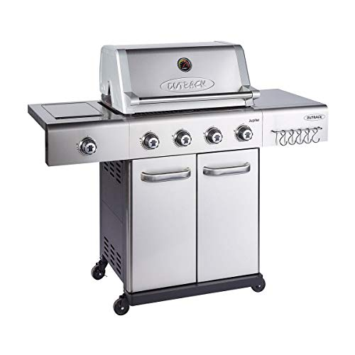 Outback 2020 Jupiter 4 Burner Hybrid - Stainless Steel with Chopping Board