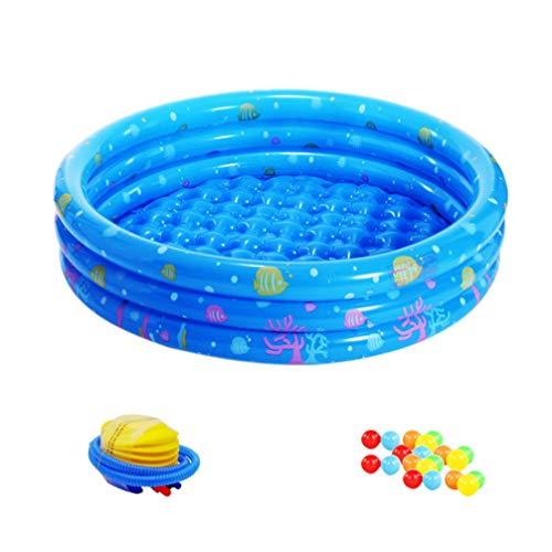 Hemoton 23pcs Inflatable Pool Badewanne Schwimmbecken Wasserbett Matratze für Kinder mit Air Pump Repair Kit 20 Ocean Ball Blue