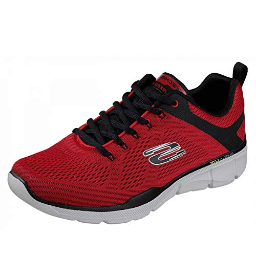 Skechers Equalizer 3.0-52938, Men's Low Top Trainers, Red (Red Black Rdbk), 8 UK (42 EU)