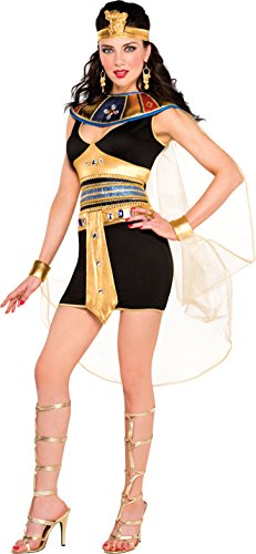 Amscan Internacionales adultos traje de belleza Cleopatra (Reino Unido 8-10)