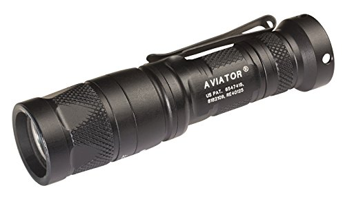 SureFire Aviator Flashlights with Dual Output Multi-Spectrum LED, White/Red (Aviator-RD)