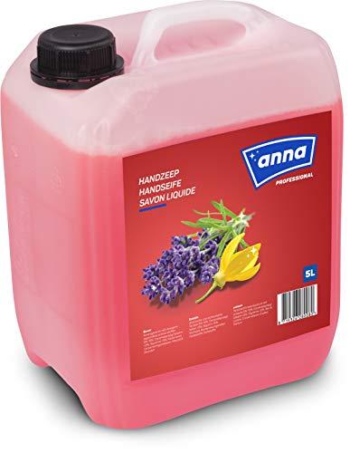 ANNA Professional pflegende Handseife flüssig, reinigt hygienisch sauber, Profi-Qualität für gewerbliche Anwender und Hausgebrauch, Flüssigseife Nachfüllpack 5l