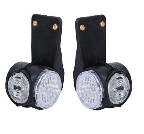 2x LED Positionsleuchten Begrenzungsleuchten Gelb Rot Weiß Neu Seitenmarkierungsleuchten LKW Anhänger 24V