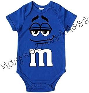 Blue M&M Inspired Baby Onesie-Chocolate Candy Baby Shirt