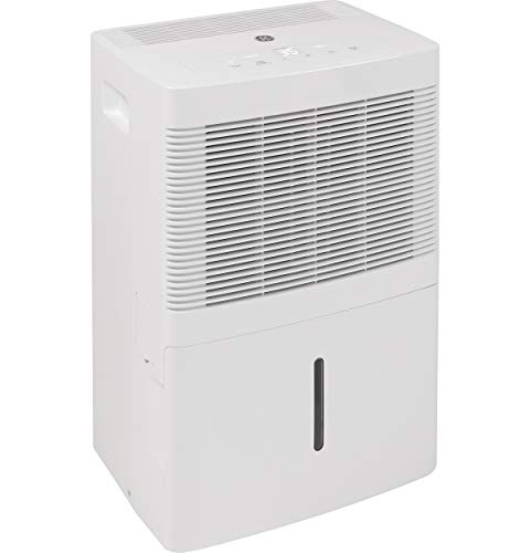 GE 20 Pint Dehumidifier for Damp Rooms, Bedroom and Closet, White