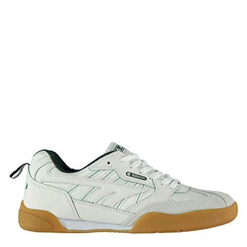 Hi Tec Squash Herren Schuhe Indoor Turnschuhe Sportschuhe Sneaker Hallenschuhe White/Green 10.5