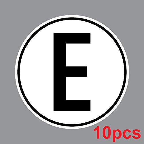 Aufkleber 10cm E für Elektromotor Elektro Motor Sticker Mofa Roller Moped Vespa Kart Quad Scooter Racing Rennwagen Motorsport (10)