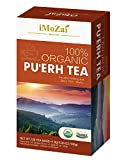 Imozai Organic Puerh Tea Bags 100 Count Individually Wrapped