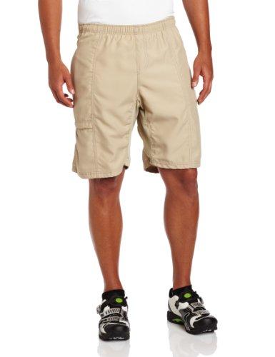 CANARI Men's Cyclewear Canyon Gel Baggy Shorts, Khaki, Small
