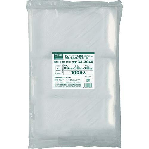 トラスコ TRUSCO 医薬 食品用小型ポリ袋縦400X横300100枚入 CA-3040