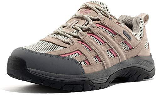 Wantdo Botas de Senderismo Impermeables para Mujer Gamuza Zapatillas Antideslizantes Zapatos para Caminar al Aire Libre Montaña Camping Deporte Gris 40.5 EU