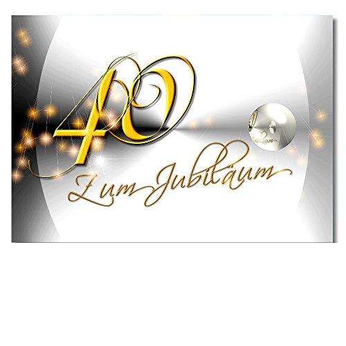 DigitalOase Jubiläumskarte 40. Jahrestag 40. Jubiläum Glückwunschkarte Geburtstagskarte Grußkarte Format DIN A4 A3 Klappkarte PanoramaUmschlag #YANG