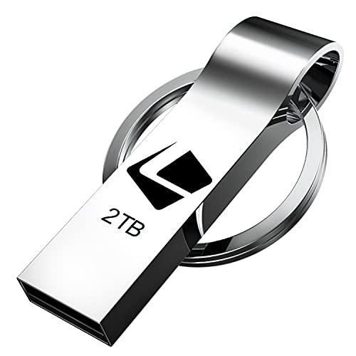 USB Stick,2TB USB Speicherstick,Luckite USB-Flash-Laufwerk Massenspeicher Wasserdicht USB-Stick Schlüsselanhänger High Speed Slim Mini Fotostick für Data Storage