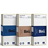 Bleu All Natural Latex Condoms Ultra Thin + Dotted + 3-In-1 Combo Condom