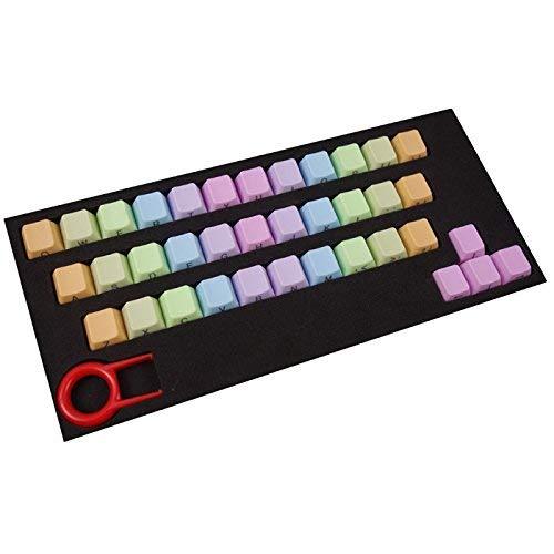 Meirrai 37 Tasten Gehäuse Gehäuse Gehäuse Iris ABS Ersatz Schlüssel Universal für mechanische Tastaturen -Light Color Top Print