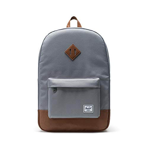 Herschel 10007-00061 Heritage Backpack Rucksack, Grey/Tan Synthetic Leather Backpack, Einheitsgröße