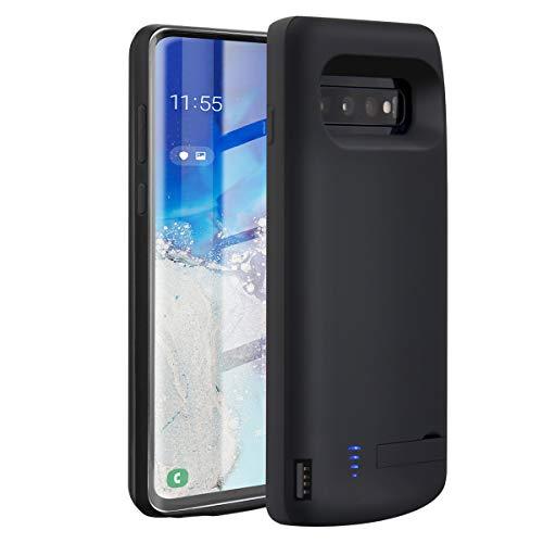 Akku Hülle für Samsung Galaxy S10 Plus Laelr 6000mAh Wiederaufladbarer Zusatzakku Ladehülle Handyhülle Tragbare Power Bank Akku Battery Case Akkuhülle Samsung Galaxy NUR FÜR S10 Plus