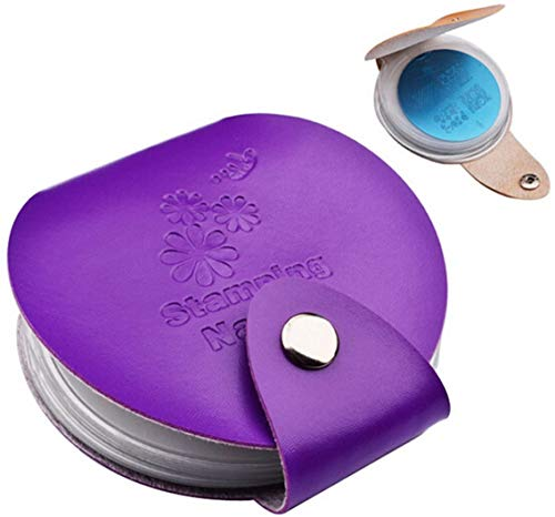 1 Piece PURPLE (24 slots) PU Leather Nail Art Stamping Plate Case Folder Nail Stamp Template Holder Album Storage