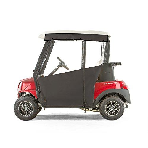 Club Car Onward Golf Cart PRO-TOURING Sunbrella Track Enclosure - Black-BLK