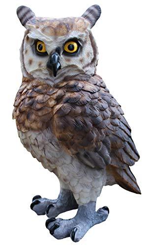 colourliving Dekofigur Eule Uhu Greifvogel Gartenfigur Tierfigur Gartendekoration Vogeldeko