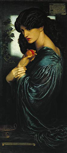 Dante Gabriel Rossetti - Proserpine, Size 12x24 inch, Poster Art Print Wall décor