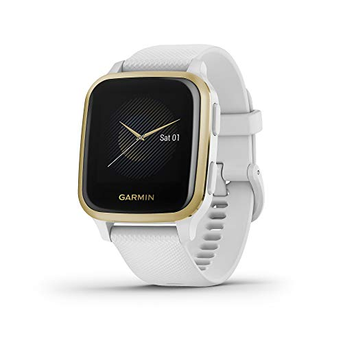 Garmin Venu Sq, GPS Smartwatch with Bright Touchscreen Display, Up to 6 Days of Battery Life, Light Gold and...