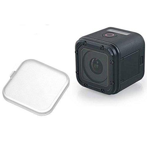 MadridGadgetStore Cubierta Tapa Protectora Protector de Objetivo Lente Semi-Transparente para Cámara Go Pro GoPro HD Hero5 Hero4 Hero 5 4 Session Proteger