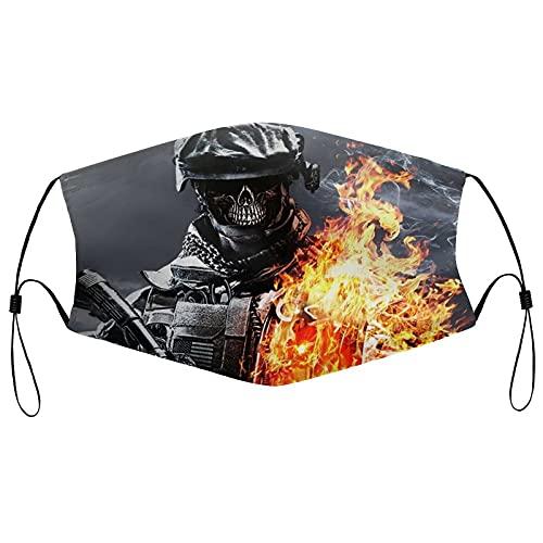 Best-design Call of Duty Máscara facial reutilizable pasamontañas lavable al aire libre nariz cubierta de la boca moda para hombres y mujeres