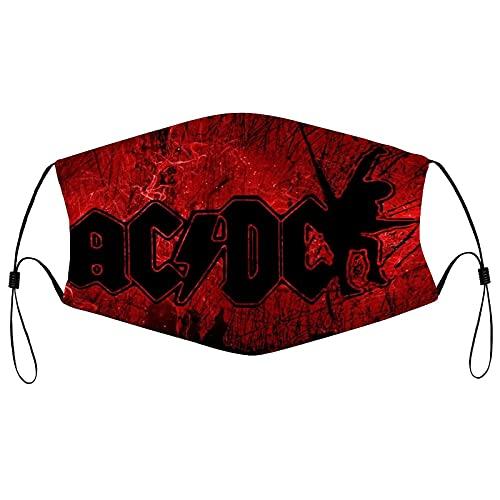 asdew987 Mascarillas faciales Ac Dc | Mascarillas reutilizables de tela de algodón lavable
