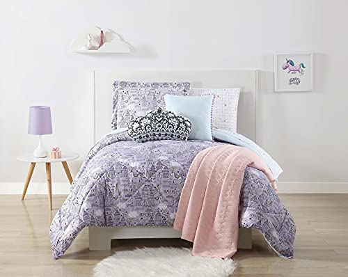 Laura Hart Kids Unicorn Princess Printed Full/Queen 3-Piece Comforter Set