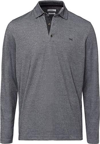 BRAX Herren Style Prescot Polo Langarmshirt, Black, Medium (Herstellergröße: M)