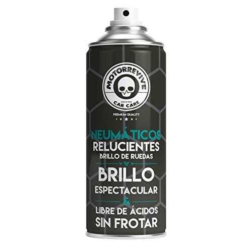 Motorrevive - Abrillantador de Neumáticos, Plásticos y Gomas Exteriores - 400 ml