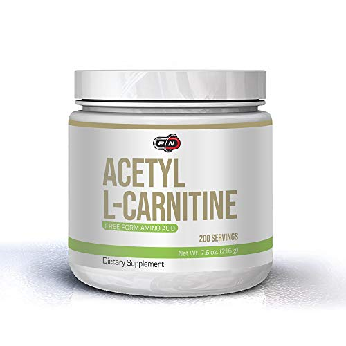 Pure Nutrition ACETYL L CARNITIN Pulver 1000mg 216 Gramm 200 Portionen ALCAR Powder Freie Form Aminosäure Stärkste L-Carnitine Form Definitionsphase Diät Für Mehr Energie Vegan Premium Qualität