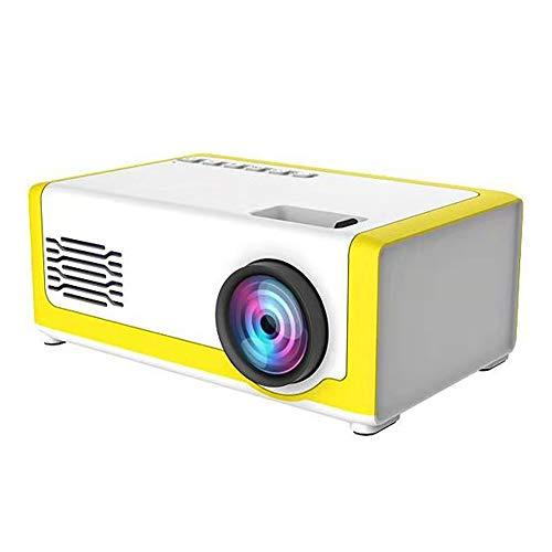 CXZC Proyector Portátil, Reproductor Multimedia Inteligente De Cine En Casa Led HD 1080p, Compatible con HDMI/AV/USB/TF/Audio, Compatible con 23 Idiomas