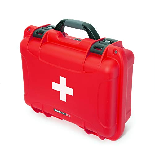 Nanuk 920 Waterproof First Aid Prepper Survival Gear Dust and Impact Resistant Case - Empty - Red, 920-FSA9