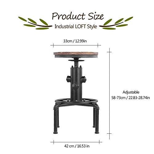 IKAYAA 2X Barhocker Industriedesign - 6