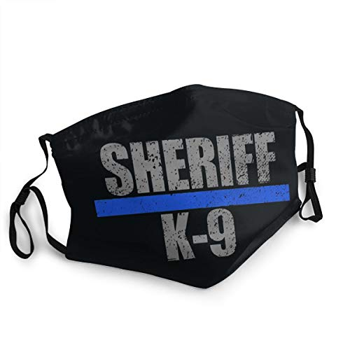 Face Cover,Sheriff K-9 Washable Outdoor Nose Mouth Cover for Adults and Kids Black