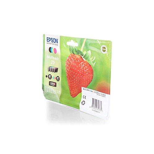 1x Original Epson Multipack C13T29864010 T2986 T 2986 für Epson Expression Home XP 335 - BK, Cy, Ma, Ye - Füllmenge: BK ca. 5,3ml / Farben ca. 3,2ml