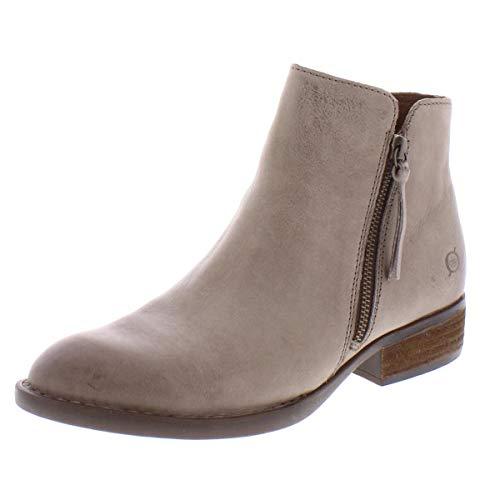BORN Olio Grey Full Grain Leather 9.5 M (B)