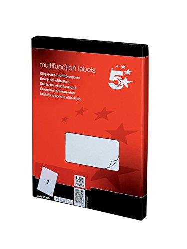 5 Etoiles ETL-903881 903881 Boîte de 100 étiquettes laser, jet d'encre, copieur 210 x 297 mm Papier Blanc